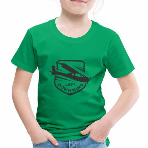 Left Downwind Badge Dark - Kids' Premium T-Shirt