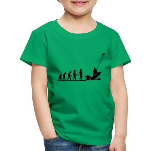 Die Evolution zum Kitesurfer - Kinder Premium T-Shirt
