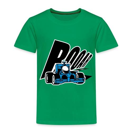 Cooler blauer Rennwagen - Kinder Premium T-Shirt
