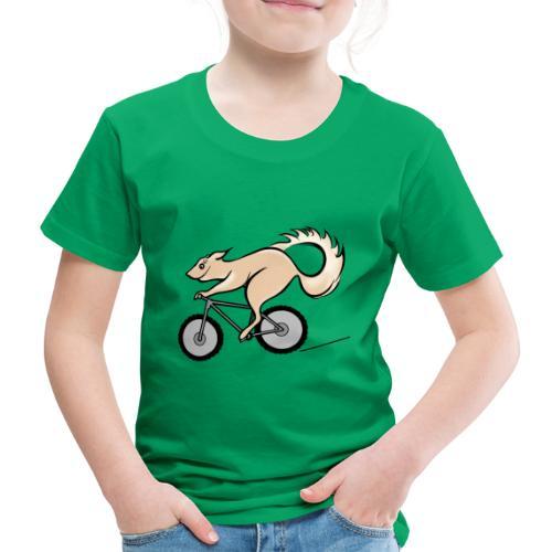 Fahrrad und Eichhörnchen - Kinder Premium T-Shirt
