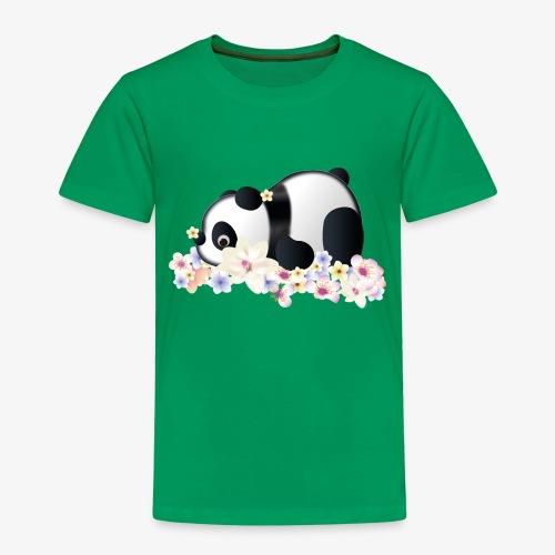 Flower Power Panda - Kinder Premium T-Shirt