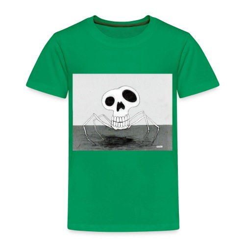 skull spider - Premium-T-shirt barn
