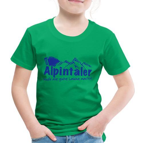 Logo dunkelblau spruch - Kinder Premium T-Shirt