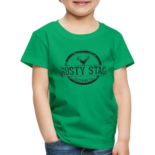Rusty Stag Weathered Crest - Kids' Premium T-Shirt