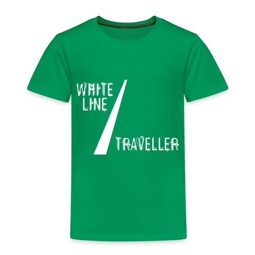 white line traveller - Kinderen Premium T-shirt