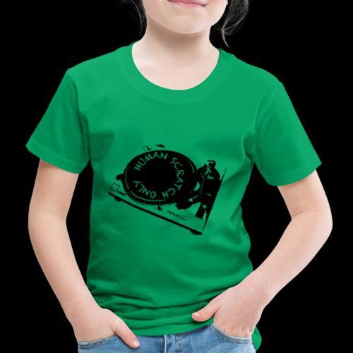 human scrtach only black - Camiseta premium niño