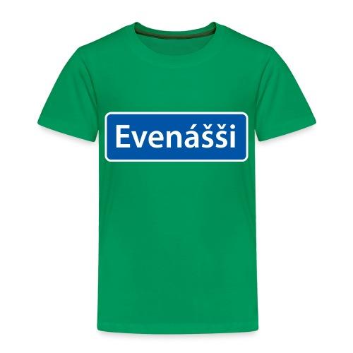 Evenášši (Evenes) skilt - Premium T-skjorte for barn