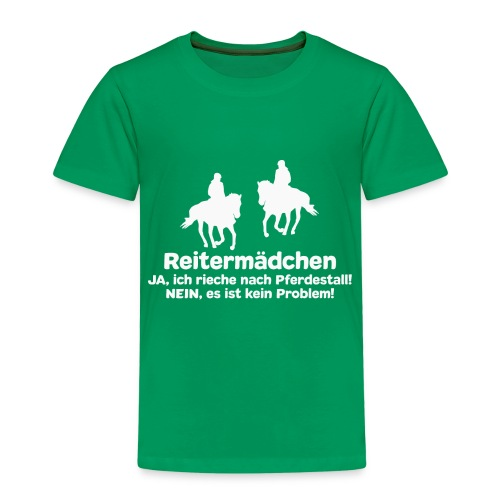 Reitermädchen Reiten Pferde Pferdespruch - Kinder Premium T-Shirt
