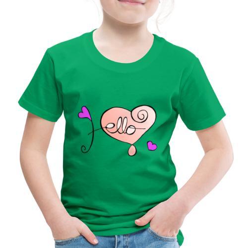 Hello Herz. - Kinder Premium T-Shirt