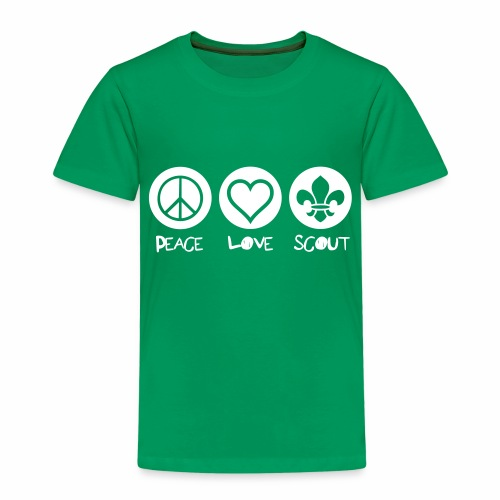 Peace Love Scout - T-shirt Premium Enfant