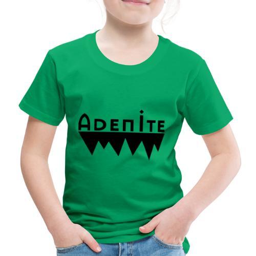 Adenite - schwarzes langes Logo - Kinder Premium T-Shirt
