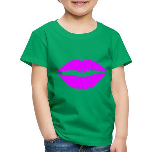 mund Lipen hel violet - Kinder Premium T-Shirt