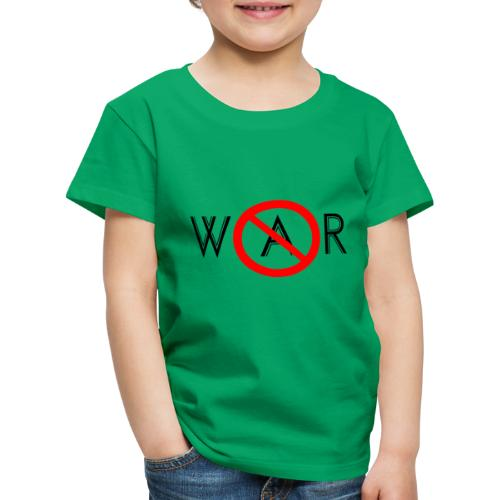 TIAN GREEN - No War - Kinder Premium T-Shirt