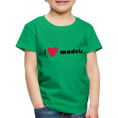 I love models - Kinderen Premium T-shirt