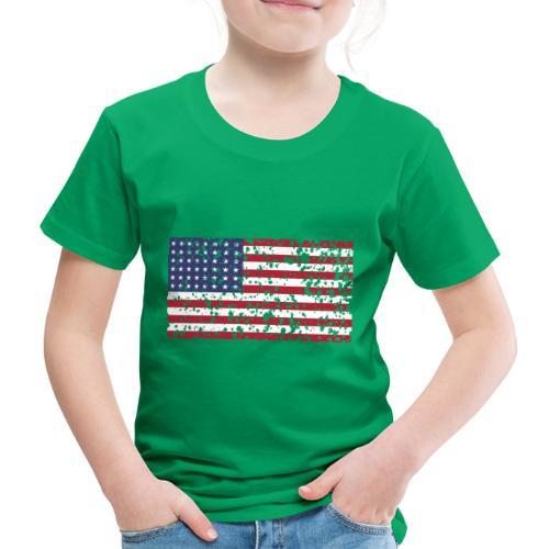 AVM WWII Trashed 48 star flag in color D'Day - Kinderen Premium T-shirt