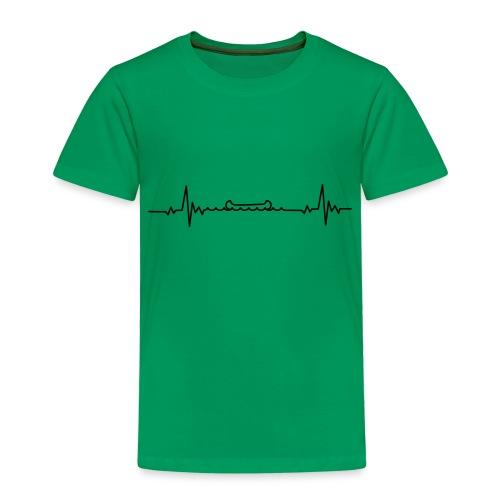 Kanu Heartbeat Ich liebe Kanufahren - Kinder Premium T-Shirt