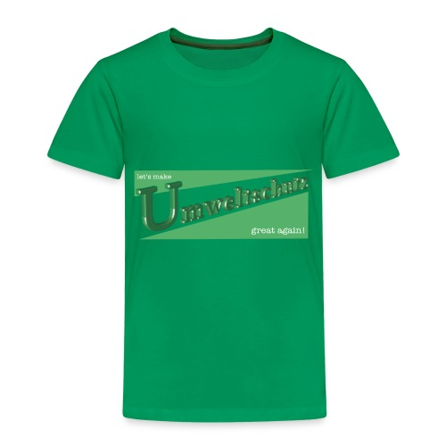 lets make Umweltschutz great again 3D - Kinder Premium T-Shirt