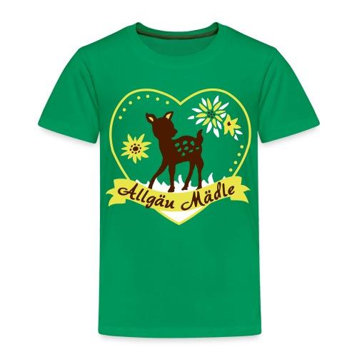 Allgäu Mädel mit Reh - Kinder Premium T-Shirt