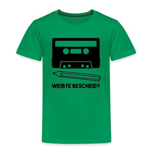 Kassette und Bleistift - Kinder Premium T-Shirt