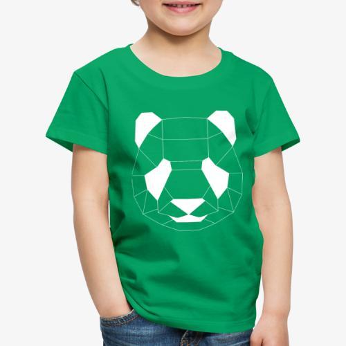 Panda Geometrisch weiss - Kinder Premium T-Shirt
