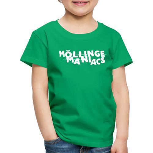 Möllinge Maniacs Vit logga - Premium-T-shirt barn