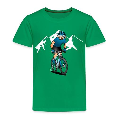 MTB - Mountain biker in the mountains - Kids' Premium T-Shirt
