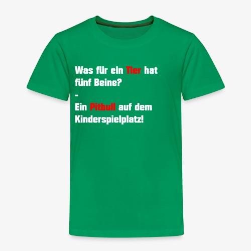 Was für ein Tier hat 5 Beine - Kinder Premium T-Shirt