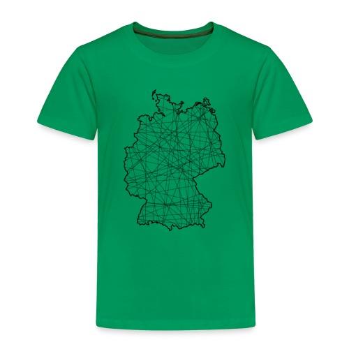 Liniertes Deutschland - Kinder Premium T-Shirt
