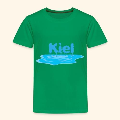Kiel Tropfend Design Wasser Schrift - Kinder Premium T-Shirt