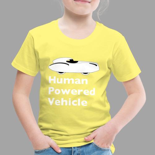 Quattrovelo Human Powered Vehicle white - Lasten premium t-paita
