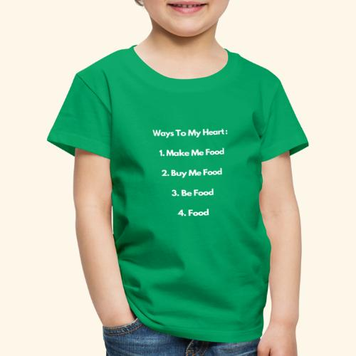 Food Lovers Funny Quotes Design, Foodies - Kids' Premium T-Shirt