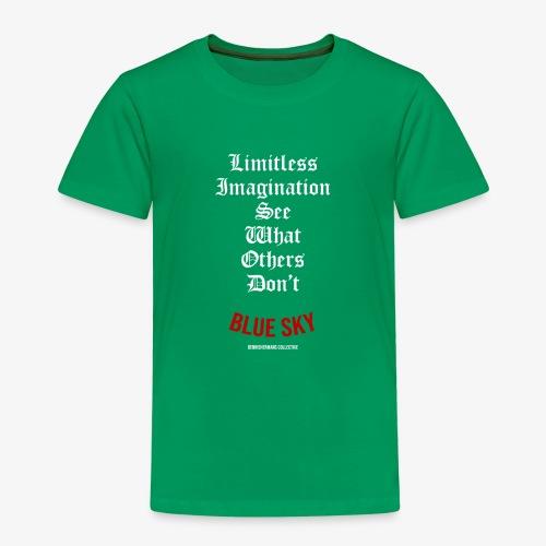 Limitless Imagination Wit - Kinderen Premium T-shirt
