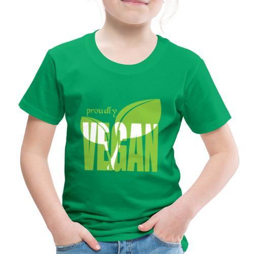 proudly vegan - Kinder Premium T-Shirt