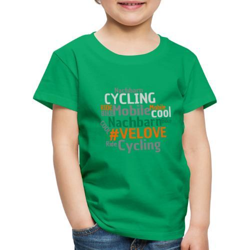 Mobile Nachbarn - WordCloud - Kinder Premium T-Shirt