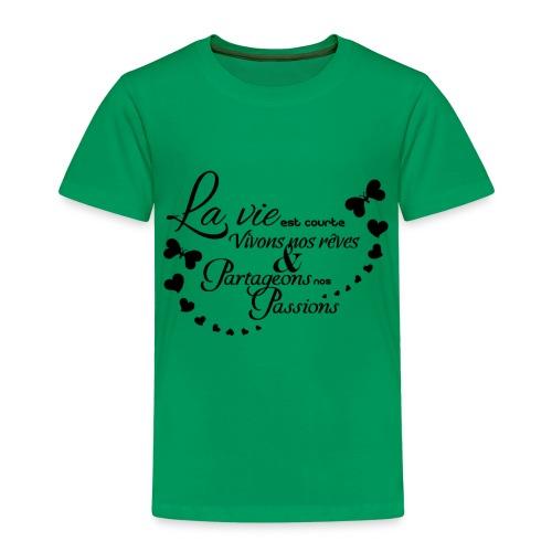 sticker citation la vie est courte vivons ambianc - T-shirt Premium Enfant