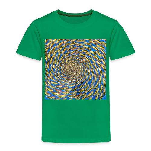 Fischschwarm in gelb - Kinder Premium T-Shirt