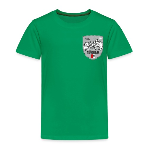 Eiger, Mönch und Jungfrau mit Mürren Flagge - Kids' Premium T-Shirt