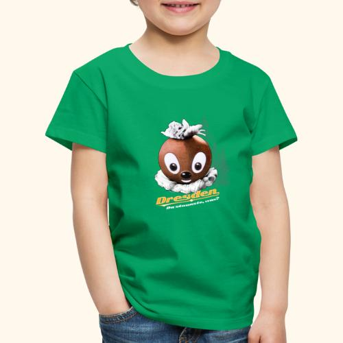 Pittiplatsch 3D Dresden auf dunkel - Kinder Premium T-Shirt
