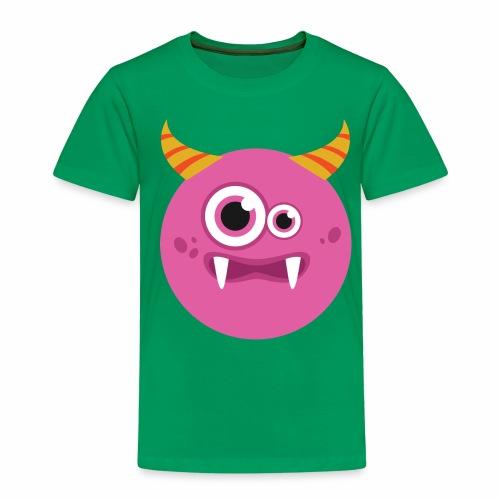 Süßes pinkes Monster - Kinder Premium T-Shirt