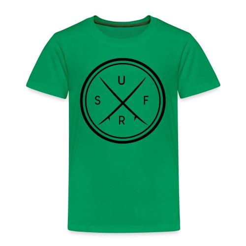 Surf Logo Motiv im Kreis - Kinder Premium T-Shirt
