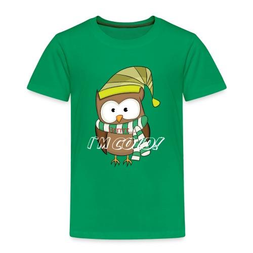 Eule, Kauz, Uhu, Vogel, - Kinder Premium T-Shirt