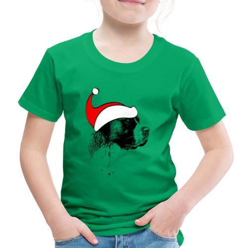 Weihnachten Bernhardiner Hunde Geschenkidee Design - Kinder Premium T-Shirt