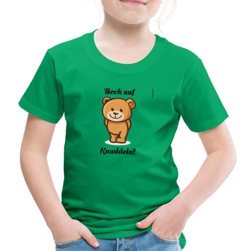 Teddy-Bär: Bock auf Knuddeln - black on white - Kinder Premium T-Shirt