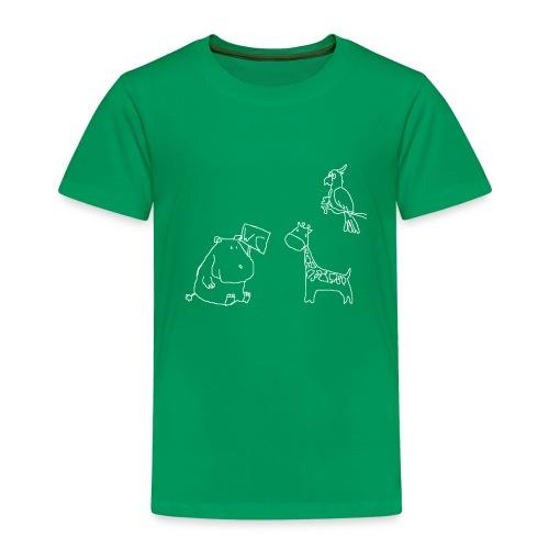 Ein Nilpferd muss aufs WC - Kinder Premium T-Shirt