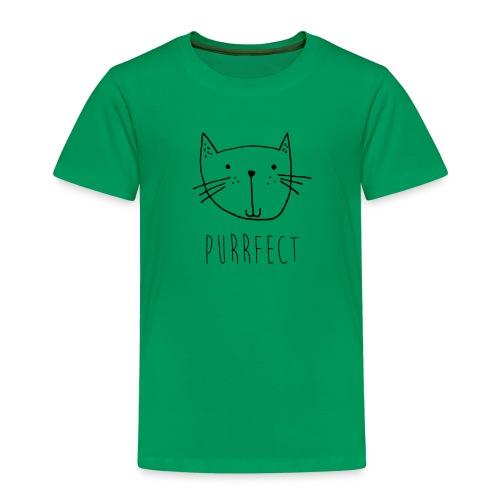 """Kleine Katze """"Purrfect"""" handgezeichnet Geschenk - Kinder Premium T-Shirt"""