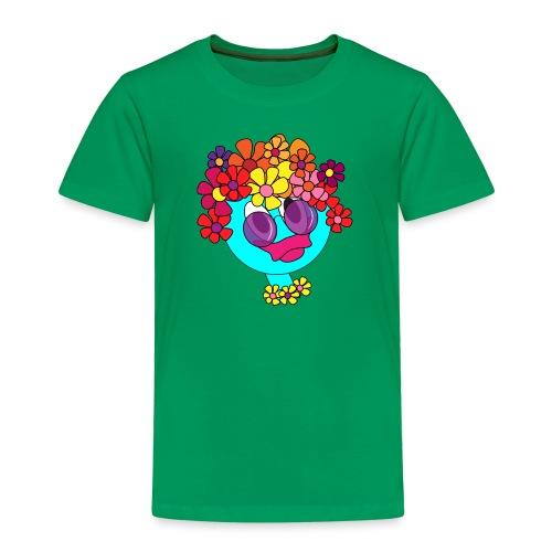 flowergirl blau - Kinder Premium T-Shirt