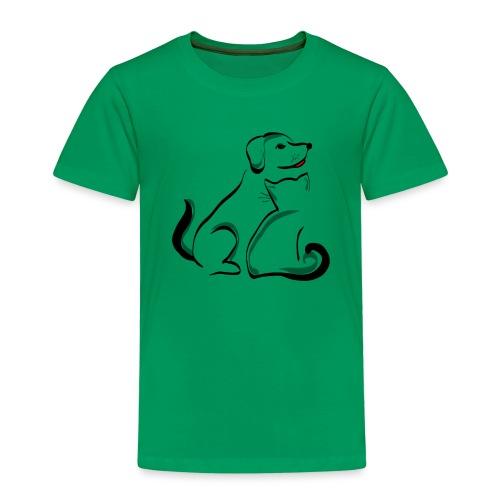 Pies i kot - Koszulka dziecięca Premium