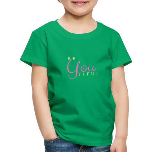 BeYouTiful grün-pink - Kinder Premium T-Shirt