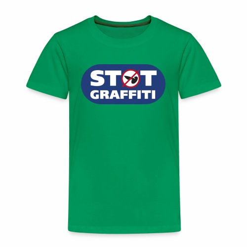 støt graffiti - blk logo - Børne premium T-shirt