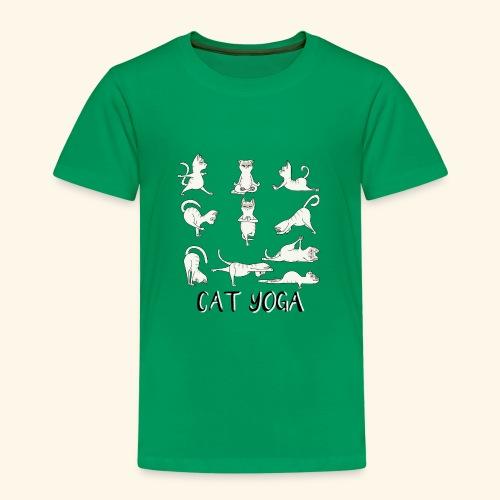 Katzen Yoga Fitness - Mantra - Karma - Miau - Cat - Kinder Premium T-Shirt